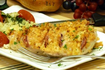 Hasselback Chicken Cordon Bleu looks beautiful on the plate and tastes fantastic!