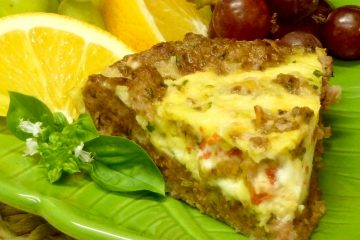 For dinner, breakfast, or lunch, Sausage Omelet Pie will please not only keto/low-carb dieters, but the whole family.