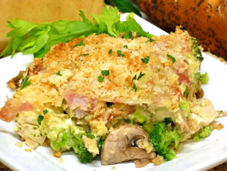 A classic French recipe becomes a great family meal in Chicken Cordon Bleu Casserole.