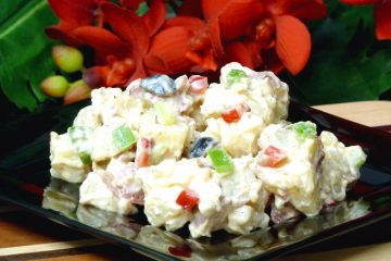 Bacon Ranch Potato Salad has the tangy flavor of ranch dressing, plus bacon.