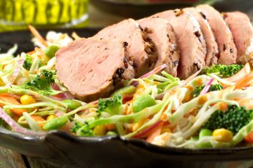 Satisfying Pork Tenderloin with Texas Slaw is the perfect meal for dieters that the whole family will love.