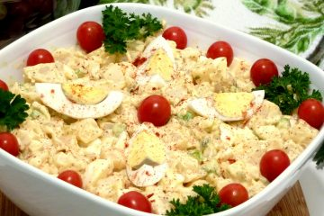 Yukon Gold Potato Salad with bacon and a creamy balsamic Dijon dressing will be the star of your party or BBQ.