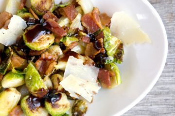 Balsamic Bacon Brussels Sprouts will be your new favorite side vegetable.