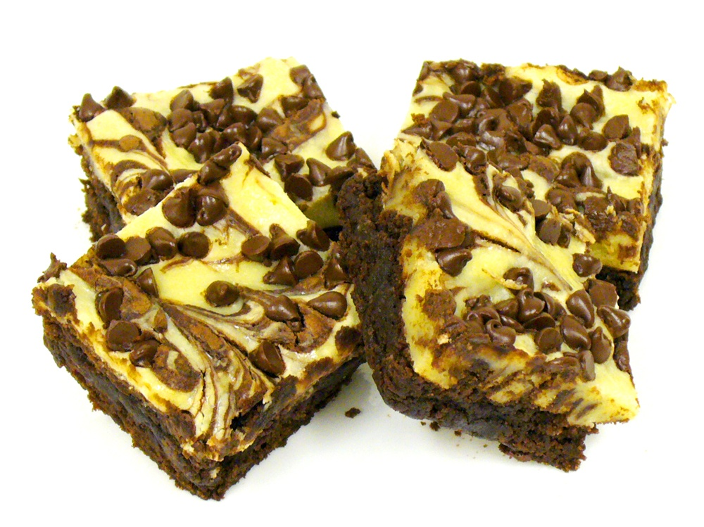 Cheesecake Swirl Brownies combine two yummy classic desserts into one easy to make bar cookie.