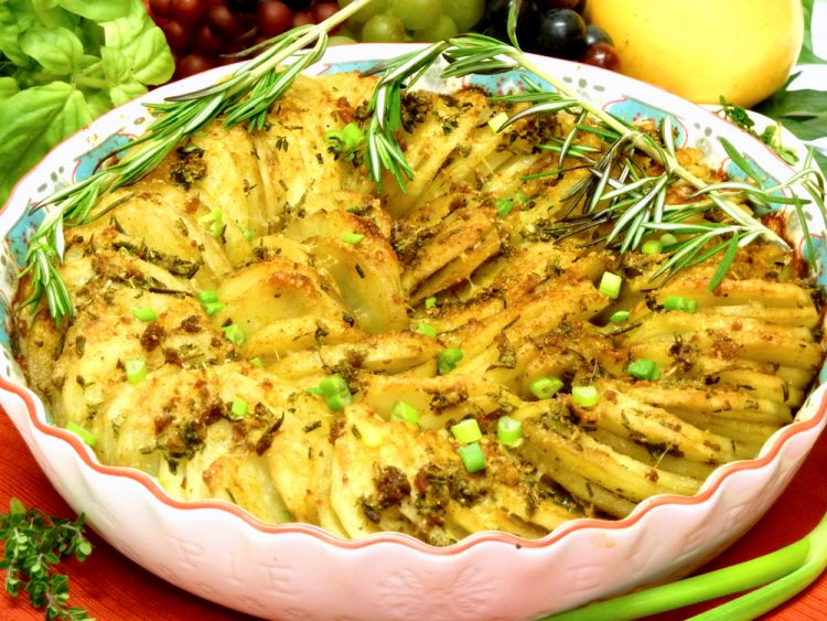 Irresistable Herb Potato Pie is the perfect side dish instead of ho-hum potatoes.