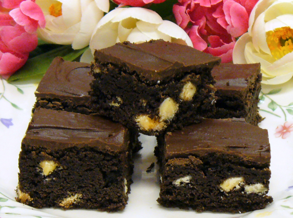 As you can see by looking at them, Triple Chocolate Cookie Bars are extremely rich. Yum!