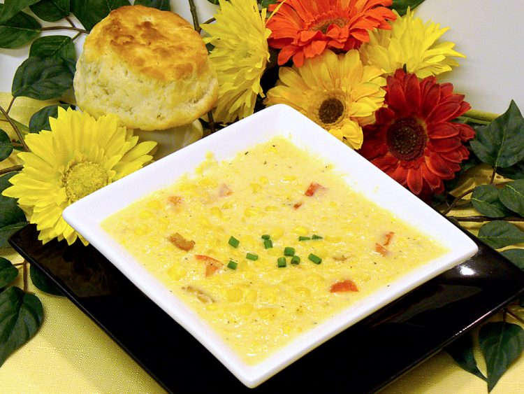 Classic Corn Chowder is rich with the flavors of fresh corn. Rich and creamy.