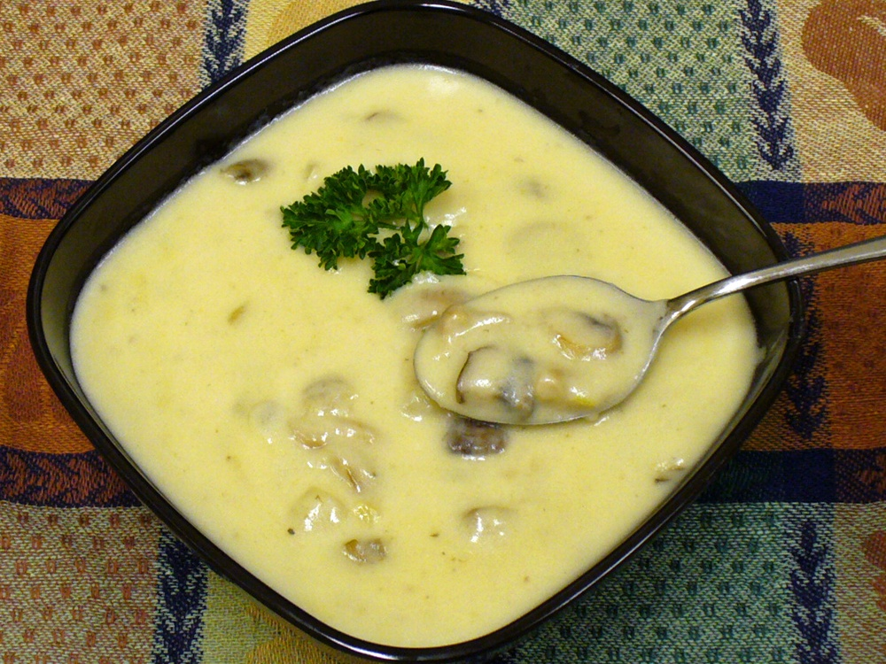 Mushroom Cheddar Soup is an incredibly easy cream of mushroom soup enriched with cheddar cheese.